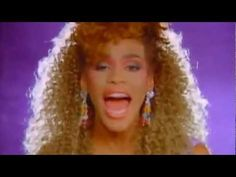 WHITNEY HOUSTON: I Wanna Dance With Somebody - HD - HQ sound  This is a snapshot from her original video, it shows key features of what we want to bring forward from that decade; the big hair, Colour, Fashion and the energy of music video
