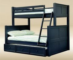 Navy Blue Twin Over Full Bunk Bed