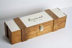 Wedding Wine Box -- Personalized, Engraved,  Glossy varnish, Custom