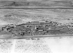 Vintage Las Vegas photo - El Rancho Vegas hotel  casino aerial view...look,at the wide open, undeveloped desert!