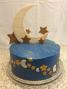Love you to the moon and back baby shower cake.