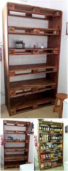 recycled pallet shelf idea
