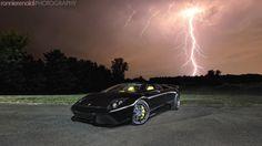 Lamborghini Murcielago - in a lightning storm.