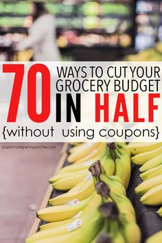 70 Ways To Cut Your Grocery Budget In Half (Without Clipping a Single Coupon). Passionate Penny Pincher is the source printable & online coupons! Get your promo codes or coupons & save. Money Saving Meals, Save Money On Groceries, Ways To Save Money, Money Tips, Groceries Budget, Living On A Budget, Frugal Living Tips, Frugal Tips, Frugal Meals