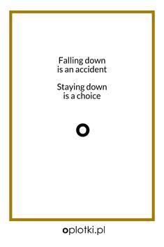Co robię, kiedy nie mam siły… Stay Down, Falling Down, Psych, Pillow Design, Words Quotes, Happy, Inspiration, Healthy Life, Meme