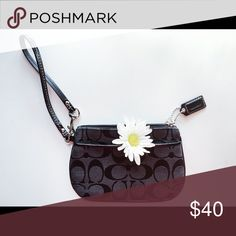 NWOT Authentic COACH Wristlet Brand new Coach Signature C Wristlet. This thoughtfully designed Wristlet holds money, credit cards, or even your phone! ***Never been used*** Coach Bags Clutches & Wristlets