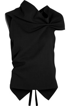 Roland Mouret | Eugene draped wool-crepe top