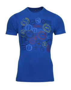 front Avenster Airmail Blue Printed Men's Round Neck T-Shirt