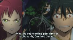 The Devil is a Part-Timer! and I thought it was mgronalds no mcdonalds