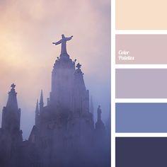 Blue Color Palettes, color of fog, color of sky at sunset, dark-blue, dark-violet, eggplant color, light lilac, lilac, Orange Color Palettes, peach, pink, purple, shades of pink sunset, shades of sunset, shades of violet, Violet Color Palettes.