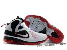 Nike Zoom LeBron 9 Shoes White Black Red 2013