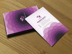 Radiant Orchid business cards