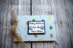 Baby Advice for the New Mom  book by ASBeautiful on Etsy, $10.00