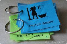 summer chore cards