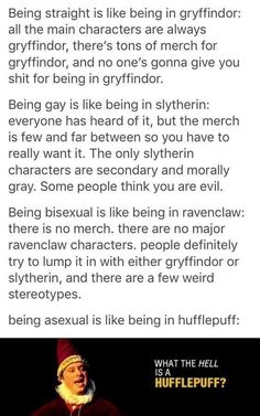 No main characters from Ravenclaw? Luna Lovegood was a Ravenclaw. Harry Potter Fandom, Harry Potter Memes, Potter Facts, Harry Potter Comics, Fandoms, Games Memes, Art Gay, Lol Memes, Ace Pride