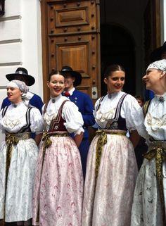 Folk costumes from Cieszyn town, Poland.