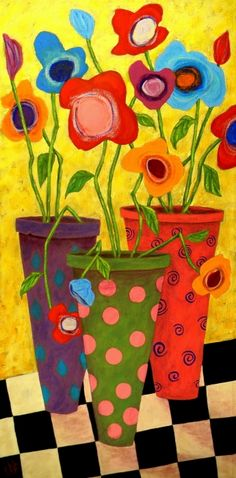 Springtime art lesson to introduce gardening. Extension to this could be painting garden pots!