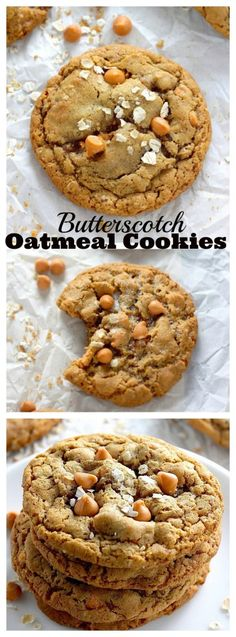 Chewy Butterscotch Oatmeal Cookies - These cookies bake up with chewy centers and crispy edges! Delightful!