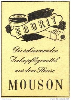 Original-Werbung/ Anzeige 1948 -  MOUSON EBURIT ZAHNCREME - ca. 45 x 65 mm