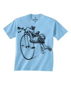 Light Blue Sloth & Bike Tee - Toddler & Kids by Skip N' Whistle #zulily #zulilyfinds