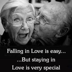 Falling in love is easy...But staying in love is very special