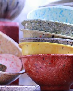 Fantabulous Vintage Texasware Speckled Bowls!