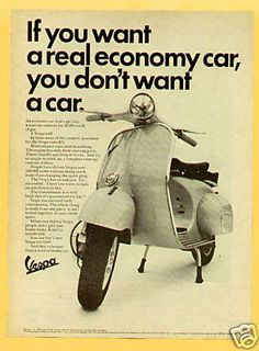 vintage Vespa ad from the 60's #ridecolorfully