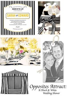 Opposites Attract: A Black & White Wedding Shower by Finestationery.com, The Finer Things blog
