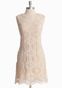 Romantic Nights Crochet Dress   Modern Vintage Dresses