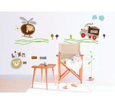 Cartoon Wall Sticker Airplane Wallpaper Poster Baby Wall Decals Removable Vinyl Wall Stickers For Kids Room Decoration