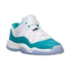 Girls' Grade School Air Jordan Retro 11 Low Basketball Shoes ($120) ❤ liked on Polyvore featuring shoes, jordans and sneakers