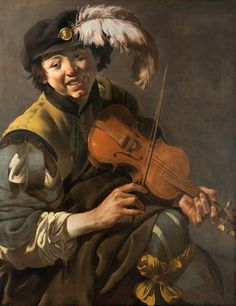 Hendrick Ter Brugghen - A Youth Playing The Violin Pablo Picasso, Renaissance Music, Violin Art, Early Music, Dutch Golden Age, Music Painting, Sketchbook Inspiration, Caravaggio, Chiaroscuro