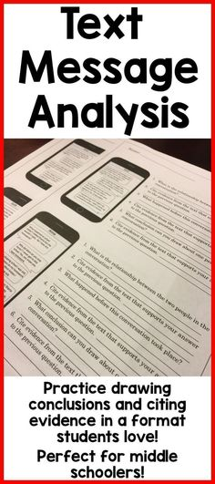 My middle schoolers loved this. Great for drawing conclusions, citing evidence and making inferences. They loved reading these text message conversations to analyze the messages and practice making inferences. 7th Grade Ela, 6th Grade Reading, Third Grade, Eighth Grade, Student Reading, Fourth Grade, Citing Evidence, Text Evidence, Middle School Reading