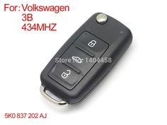 61.78$  Buy now - http://alilzh.worldwells.pw/go.php?t=32214143774 - Made in china,Auto remote key, New Bora Sagitar Touran samrt remote key 3 buttons 433MHZ-5K0 837202 AJ,free shipping 61.78$