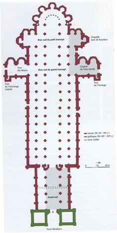 Plan de l'abbaye de Cluny