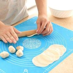 Non-Stick Measuring Pastry Mat Keep the size of each pastry you make CONSISTENT! The Non-Stick Measuring Pastry Mat is made of food grade silicone that's eco-friendly. It's non-toxic, soft, non-slip, heat and oil resistant and won't fade. Biscuit, Fathers Day Cake, Silicone Baking Mat, Silicone Bakeware, Cooking Equipment, Baking Pans, Baking Tools, Baking Products, Baking Utensils