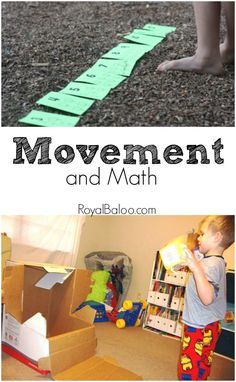 5 Ways to get Moving with Math! Great way to learn math and get the wiggles out.