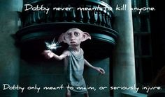 Dobby never meant to kill!