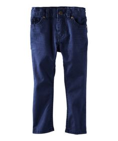 Navy Skinny Pants - Toddler & Boys by OshKosh B'gosh #zulily #zulilyfinds