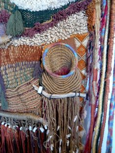 60's Hippie Tapestry/Weaving by Edith Zimmer | From a unique collection of antique and modern textiles and quilts at http://www.1stdibs.com/furniture/more-furniture-collectibles/textiles-quilts/