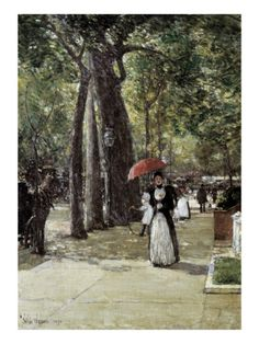 Fifth Avenue at Washington Square, New York by Childe Hassam at Art.com