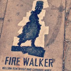 Fire Walker by WIlliam Kentridge and Gerhard Marx. Instagram Feed, Street Art, Beautiful Pictures, Fire, Pretty Pictures