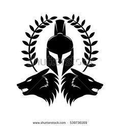 Find Spartan Helmet Wolf Heads stock images in HD and millions of other royalty-free stock photos, illustrations and vectors in the Shutterstock collection. Hai Tattoos, Body Art Tattoos, Sleeve Tattoos, Helm Tattoo, Arm Band Tattoo, Tattoo Chest And Shoulder, Spartanischer Helm, Wolf Helmet, Spartan Helmet Tattoo
