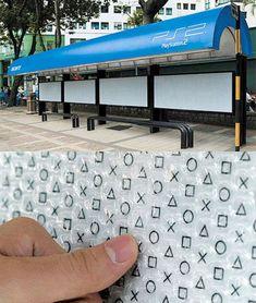 Creatieve reclame in bushokje