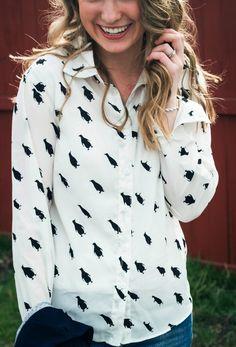 a penguin blouse