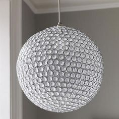 A sparkling, round steel and acrylic ceiling pendant to add glitz and glamour to any interior space. This item attaches to existing electrical fixtures. Product Options Sparkling Ball Chandelier in stock Chandelier Ceiling Lights, Pendant Chandelier, Ceiling Pendant, Pendant Lighting, Crystal Pendant, Contemporary Chandelier, Contemporary Bedroom, Chandeliers Modern, Home Interior