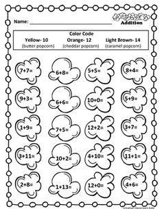 In this freebie page, students can practice their addition fluency in a fun way. My students love color by the code and this worksheet provides them a great way to practice addition facts. I have been practicing the counting on strategy with my students and encouraged them to try using it as they were adding.