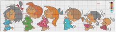 GRAFICOS PUNTO DE CRUZ GRATIS : POCOYO GATO FELIX TOPO GIGIO PEPPA PIG FAMILIA TELERIN SUPER HEROES MAZINGER Z MONSTER DRACULA