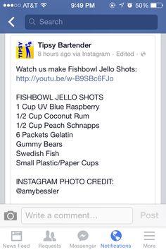 Fish Bowl Jello Shots