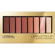 With 8 shades and 3 finishes to mix and match, L'Oreal's Colour Riche La Palette Lip gives you endless possibilities for creating fashion-forward lip looks. This palette allows you to get original with lip color by layering colors and textures. Makeup Up, Makeup Sale, Cheap Makeup, Drugstore Makeup, Pretty Makeup, Makeup Ideas, Beauty Makeup, Loreal La Palette, Lipstick Palette